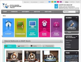 Mensaxe de benvida á nova web da EGAP